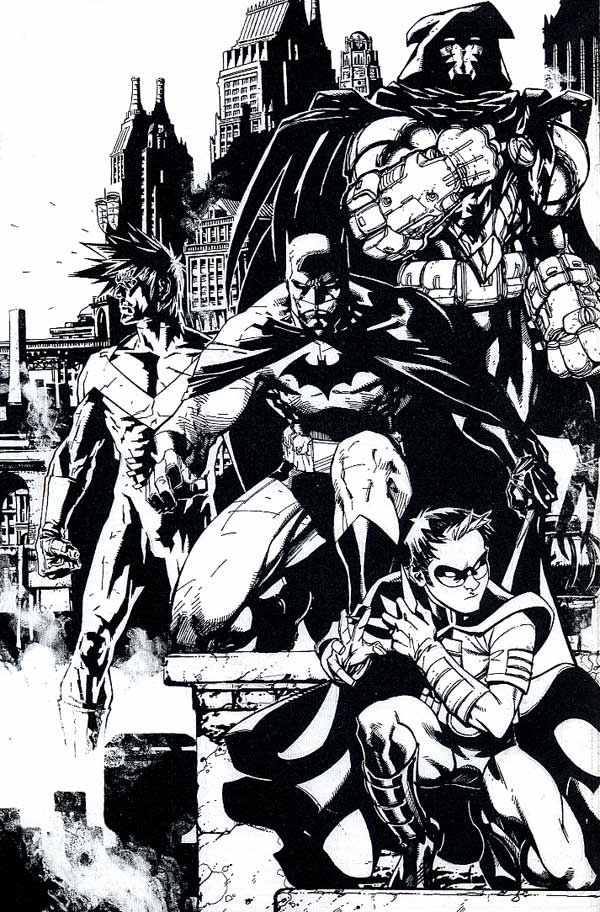 Drawn robin dark Lee Jim Batman Family 931