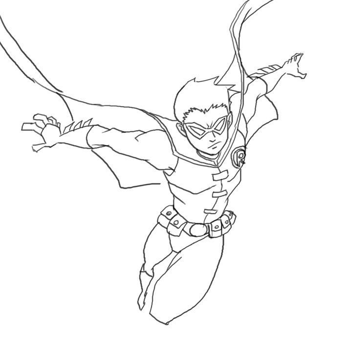 Drawn robin easy How comics DC Robin tutorials