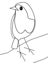 Drawn robin easy How bird gorge Rouge robin