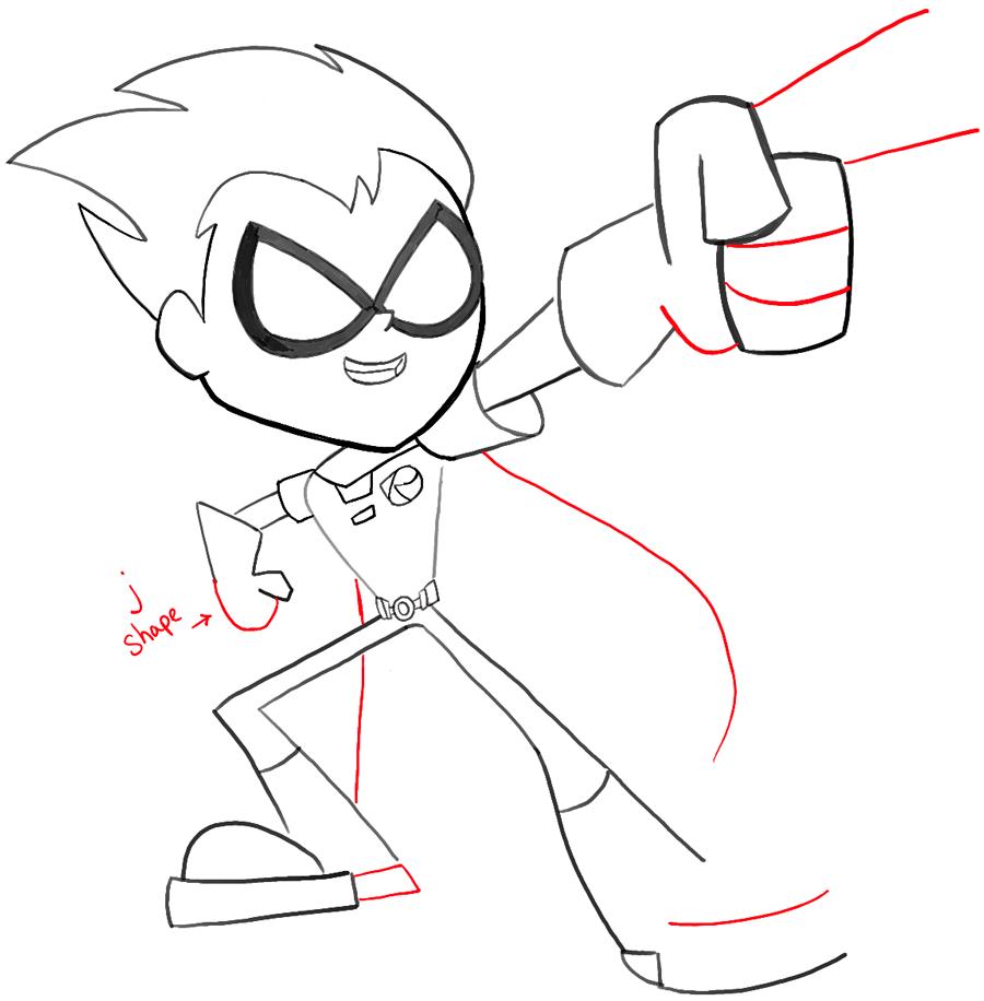 Drawn robin easy Step12 go with Go titans