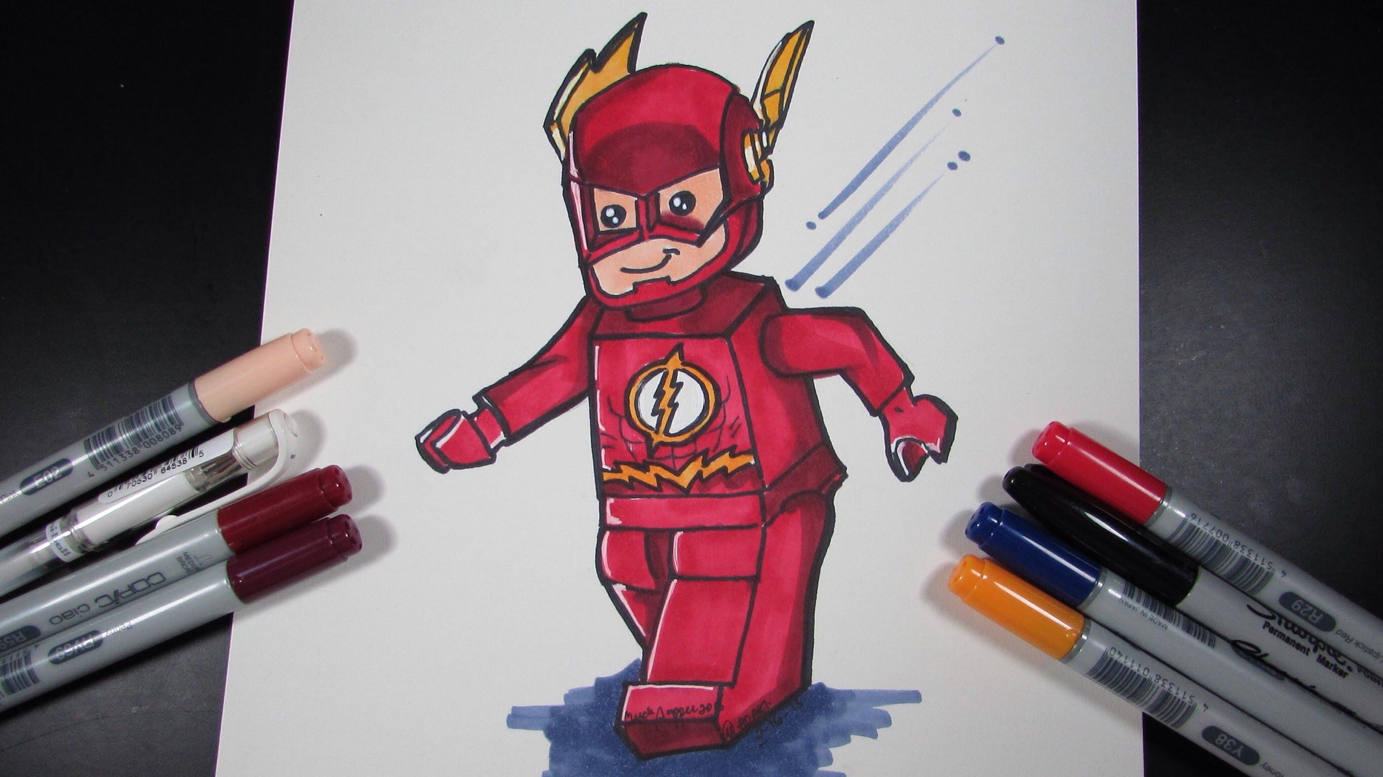 Drawn robin flash Lego Superheroes YouTube Draw Flash