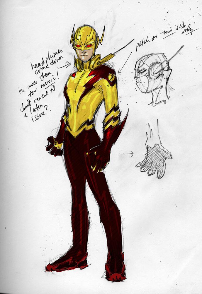 Drawn robin flash OR & Lee Titans Booth