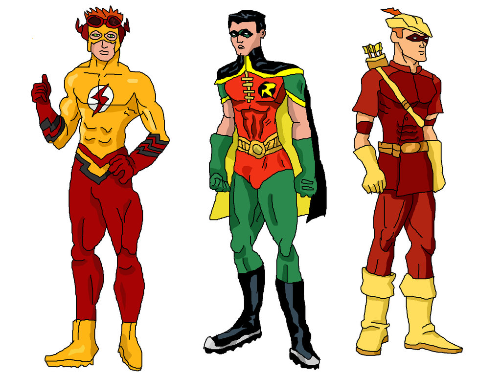 Drawn robin flash Supergirl LavenderRanger by Speedy Batgirl