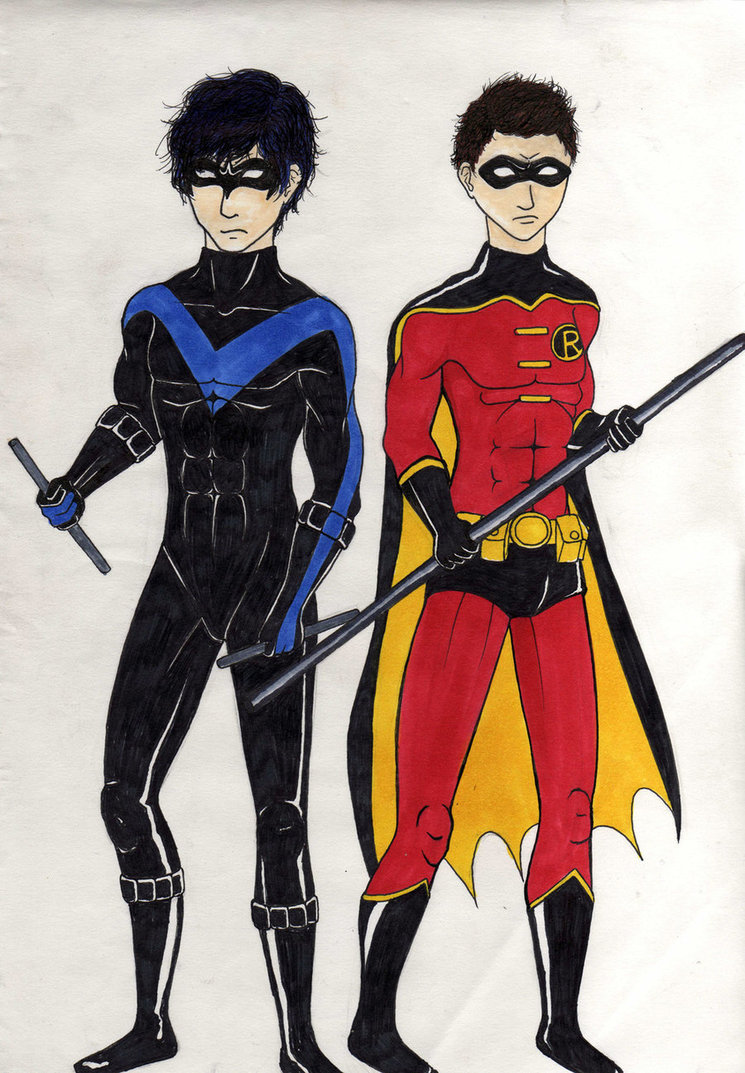 Drawn robin nightwing Robin by and Robin on
