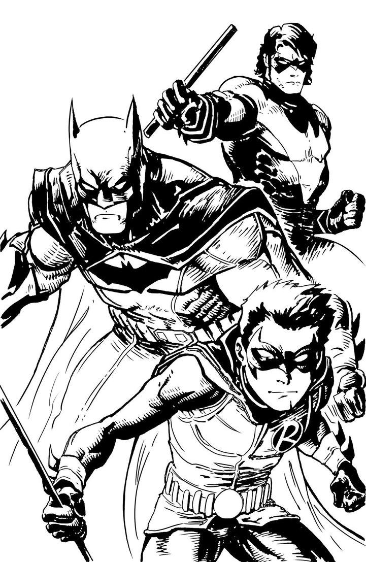Drawn robin nightwing Nightwing and Batman and