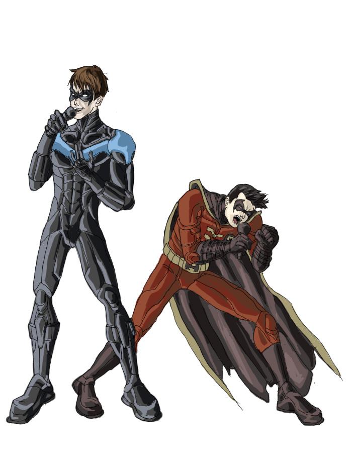 Drawn robin nightwing Nightwing and cho Robin on