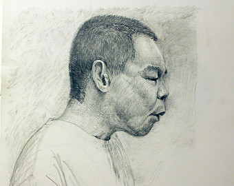 Drawn portrait made Custom Made drawn To pencil