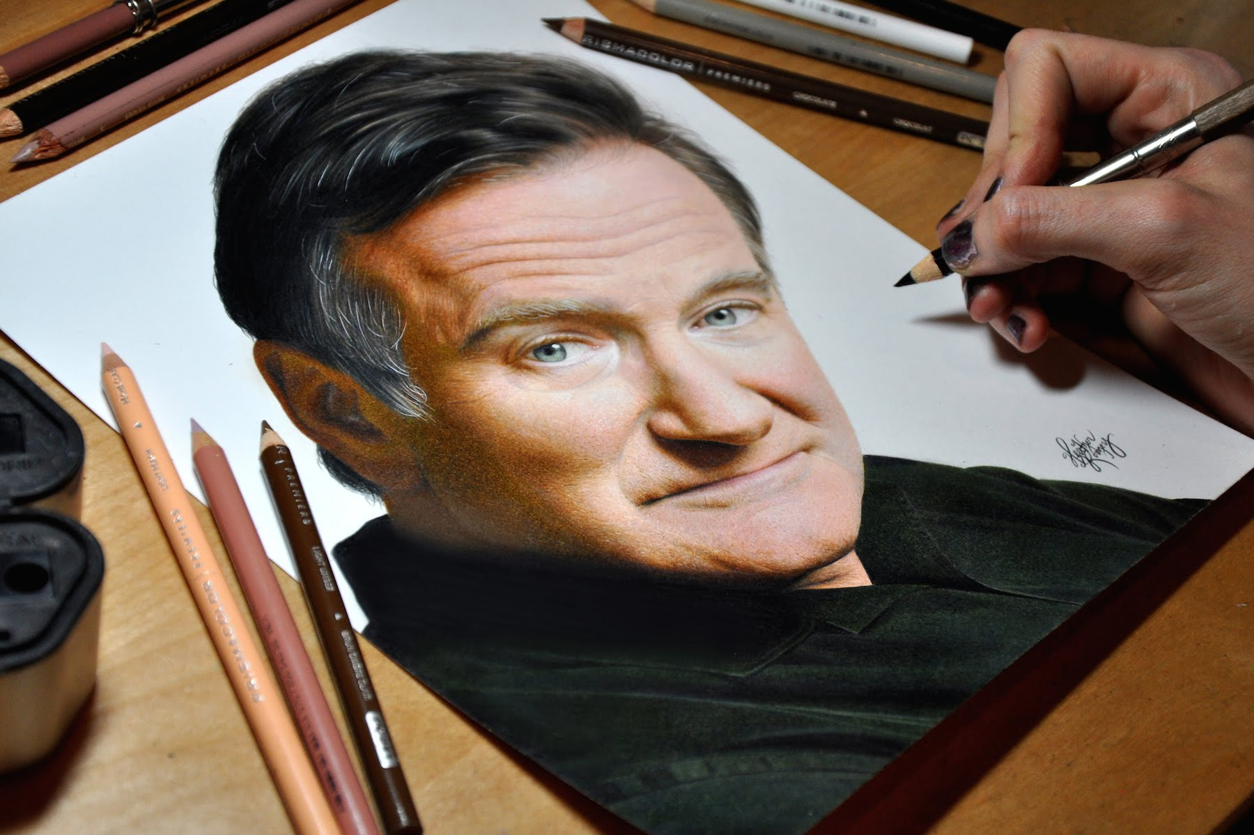 Drawn celebrity real life Williams Robin YouTube Drawing