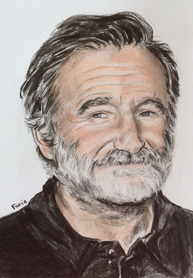 Drawn robin robin williams tribute Worldwide  A 2014 Drawing