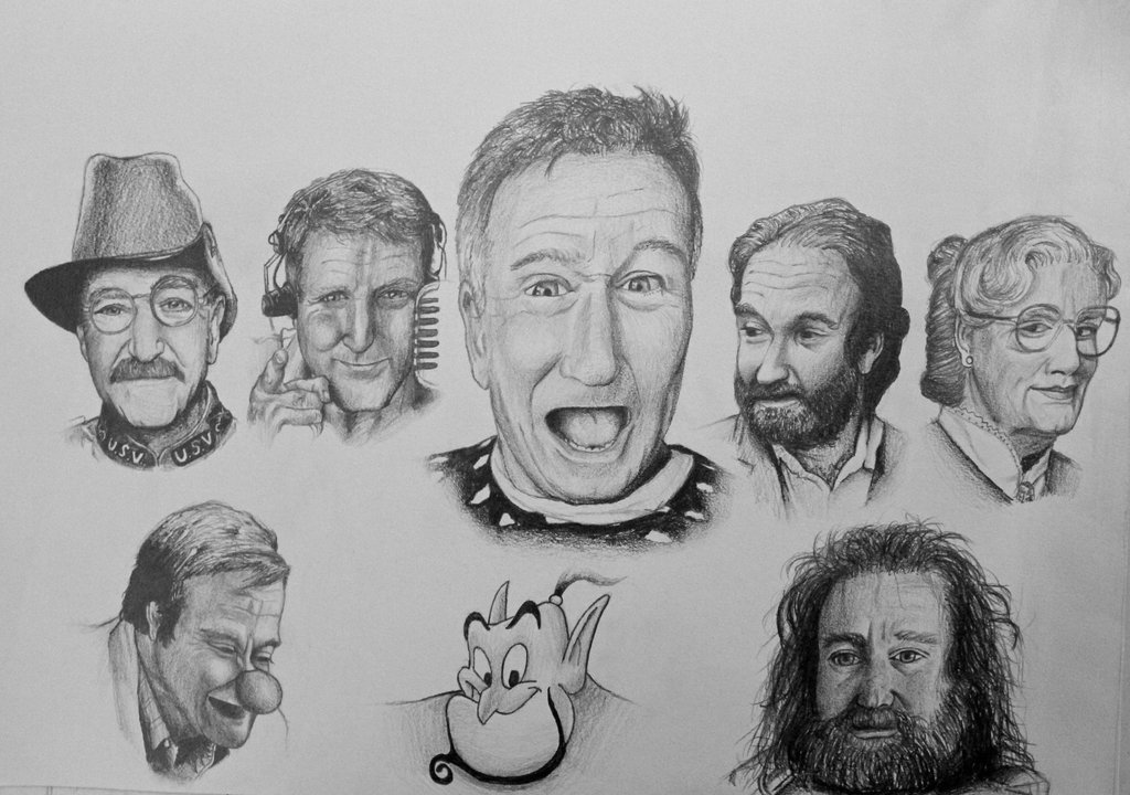 Drawn robin robin williams tribute Tribute Williams Williams artistdude1013 on