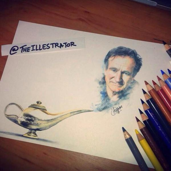 Drawn robin robin williams tribute Williams Robin Storify Williams image