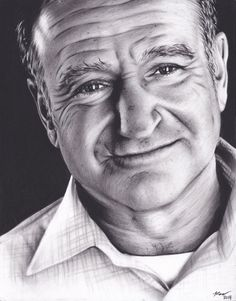 Drawn robin robin williams tribute Pinned First by pen Williams