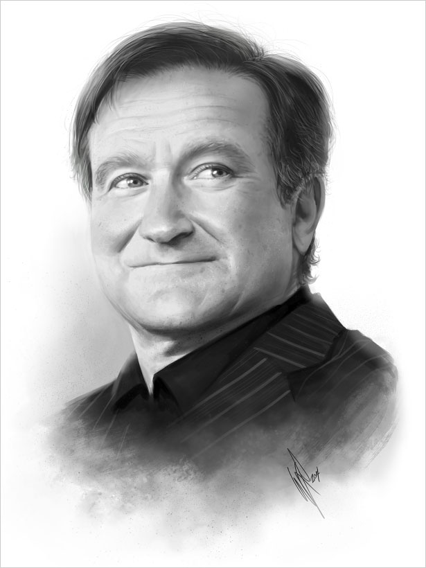 Drawn robin robin williams tribute Worldwide A Williams To Robin