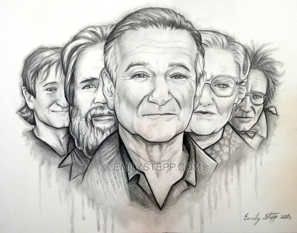 Drawn robin robin williams tribute Robin EmilyStepp Williams Tribute by