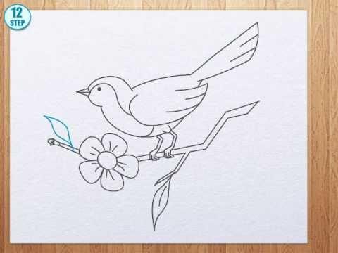 Drawn robin simple To to bird How bird