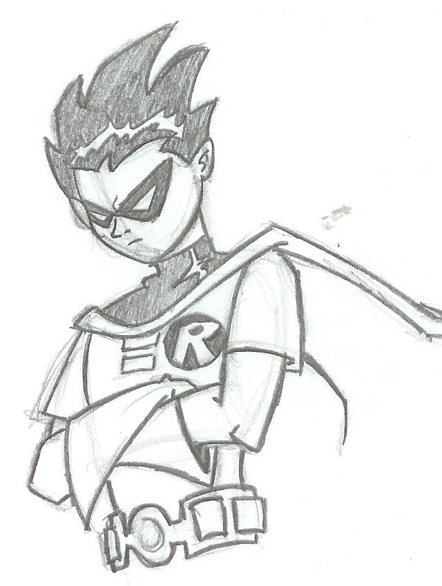 Drawn robin sketch By Robin Titans: The Club