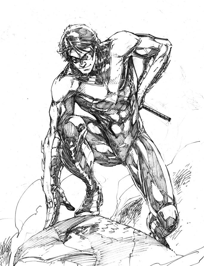 Drawn batman robin #5