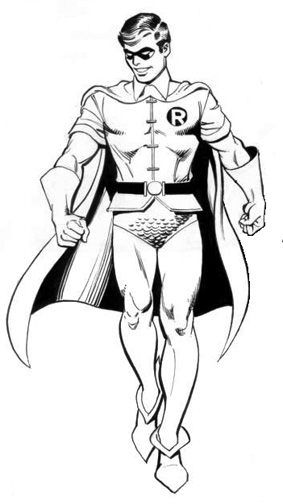 Drawn robin superhero On at its Even grown