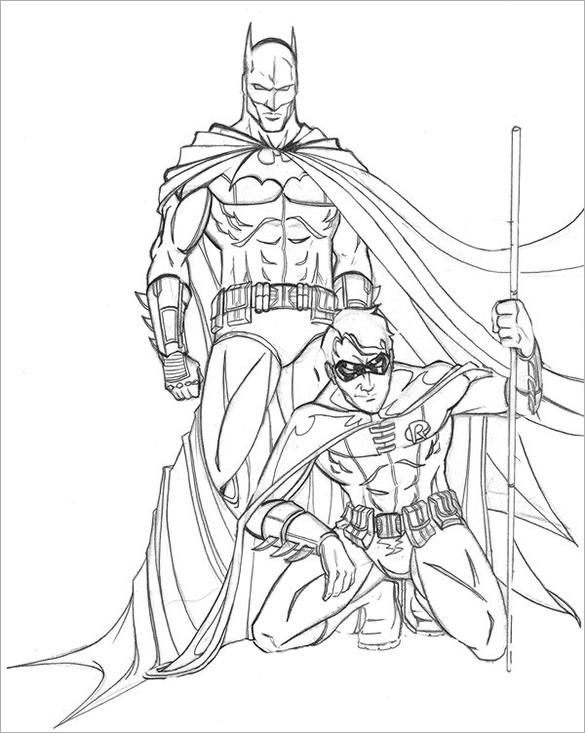 Drawn robin superhero With best together Free in
