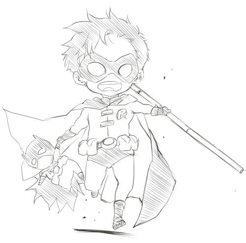 Drawn robin superhero Believe is Tim Drake I