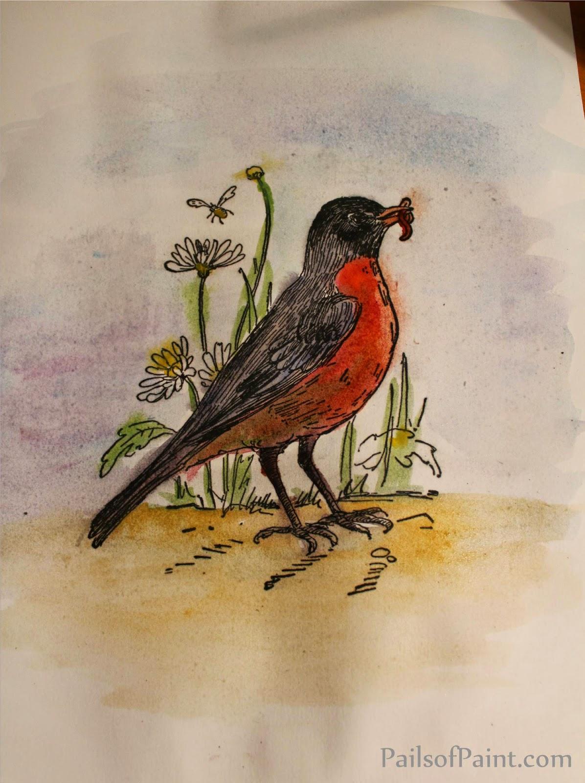 Drawn robin vintage An all always drawn It