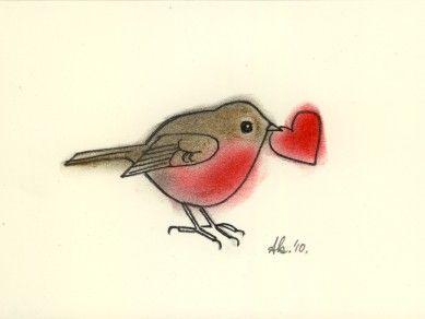 Drawn robin worm Robin Original Love in ideas