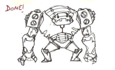 Drawn robot Draw Robot Drawing robot –