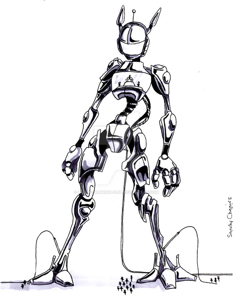 Drawn robot By drawing robot club by