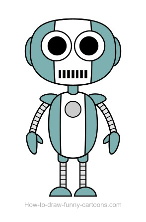 Robot clipart easy #10