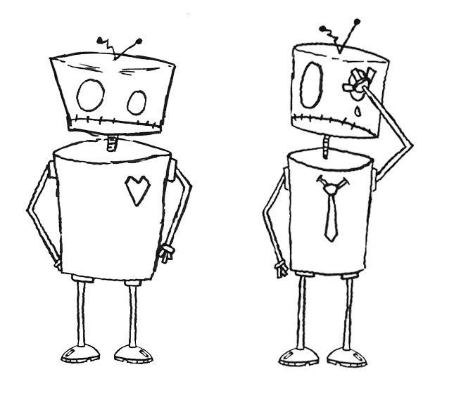 Drawn robot On simple best 91 Spaceships)