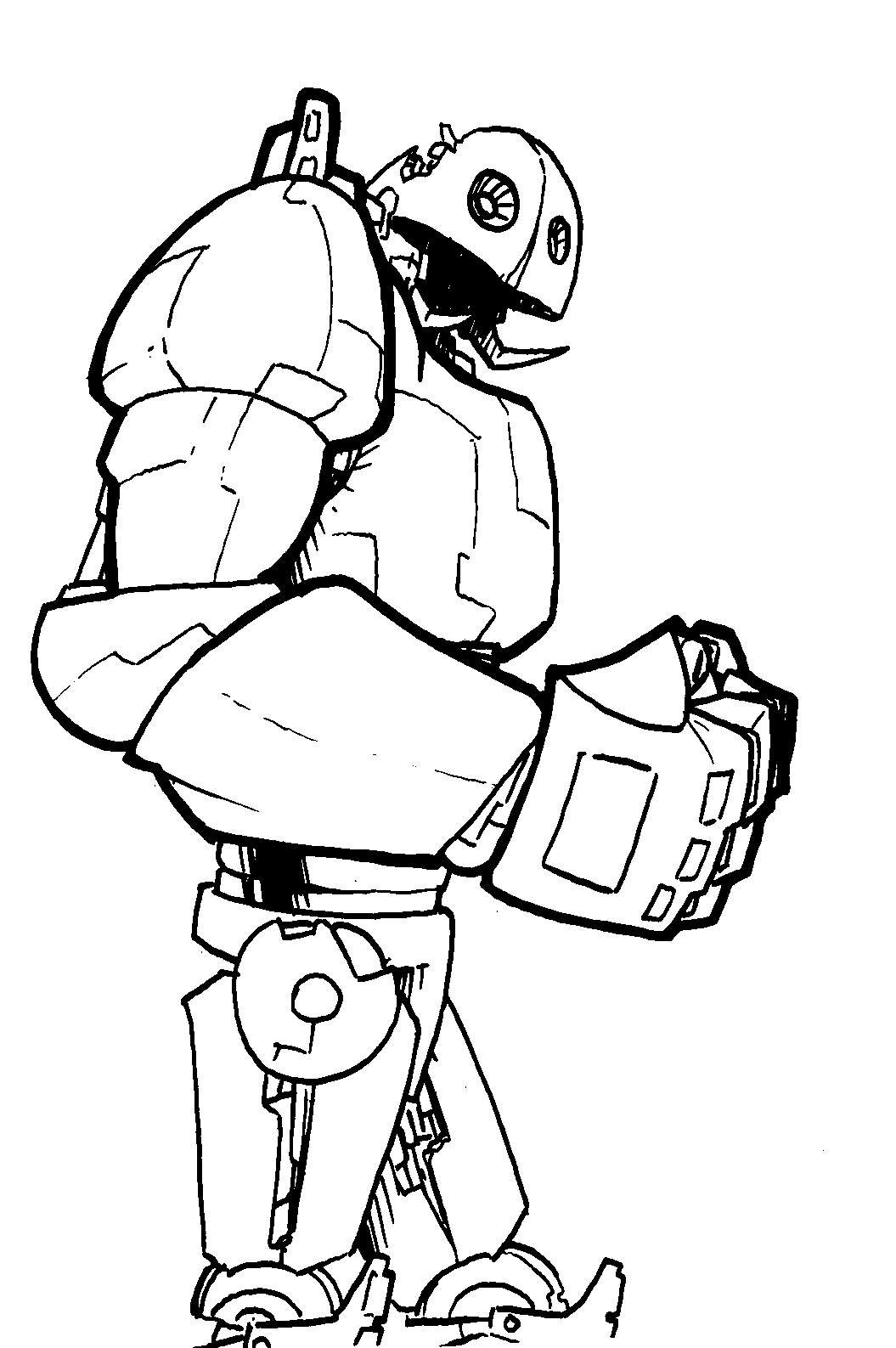 Drawn robot Robot to and moved I
