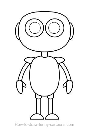 Drawn robot  + (Sketching Robot vector)