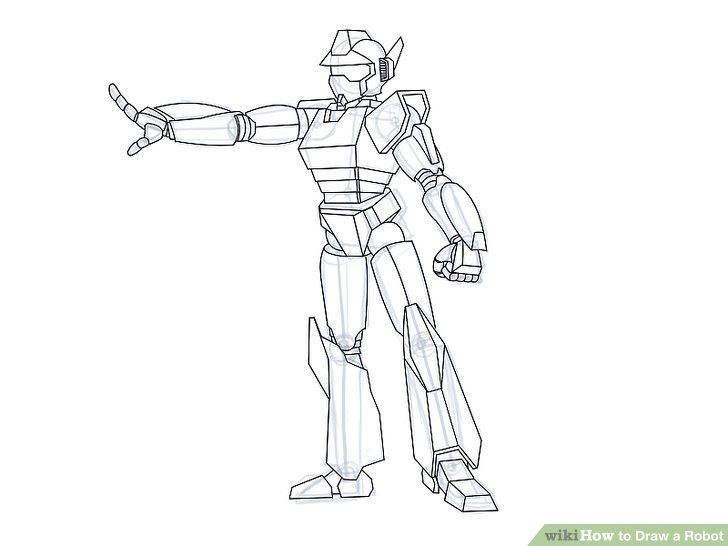 Drawn suit illustration To a Ways 4 Robot