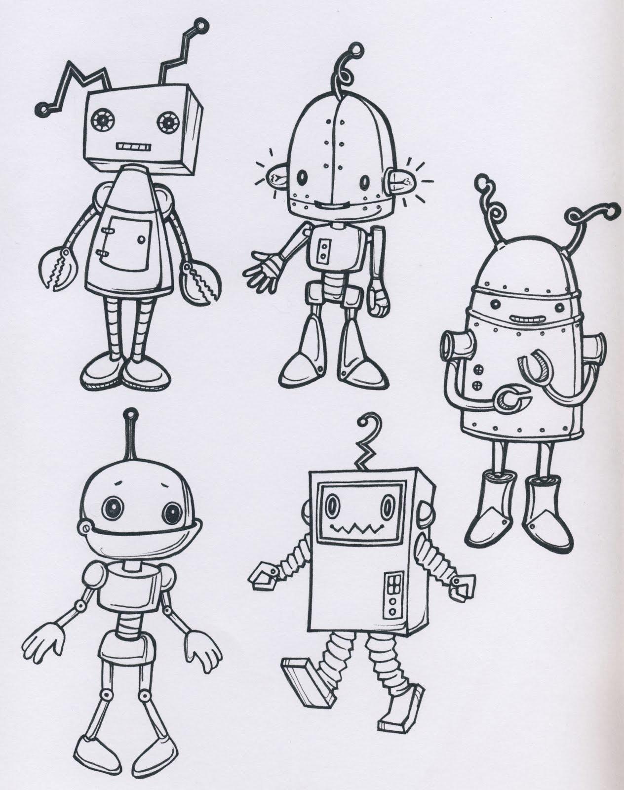 Drawn robot Robots theme normal That's Nursery