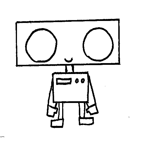 Drawn robot Now Slorance robot Neil