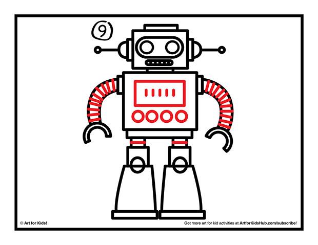 Drawn robot Art  Kids how Hub