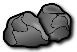 Drawn rock Of edit graphics the icons