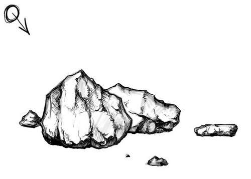 Drawn cilff simple Rocks to to Rocks draw
