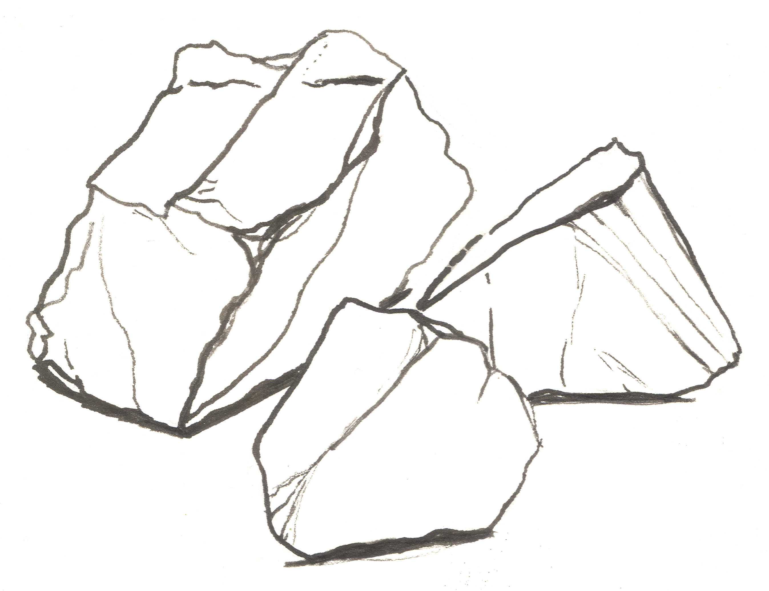 Drawn rock Wong Bushes on Realistic Draw