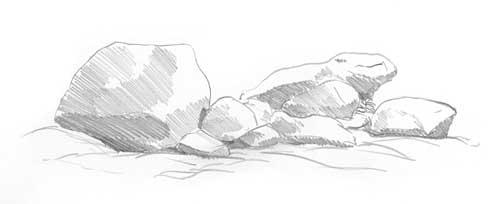 Drawn cilff easy Rocks basic lighting tutorial Diane