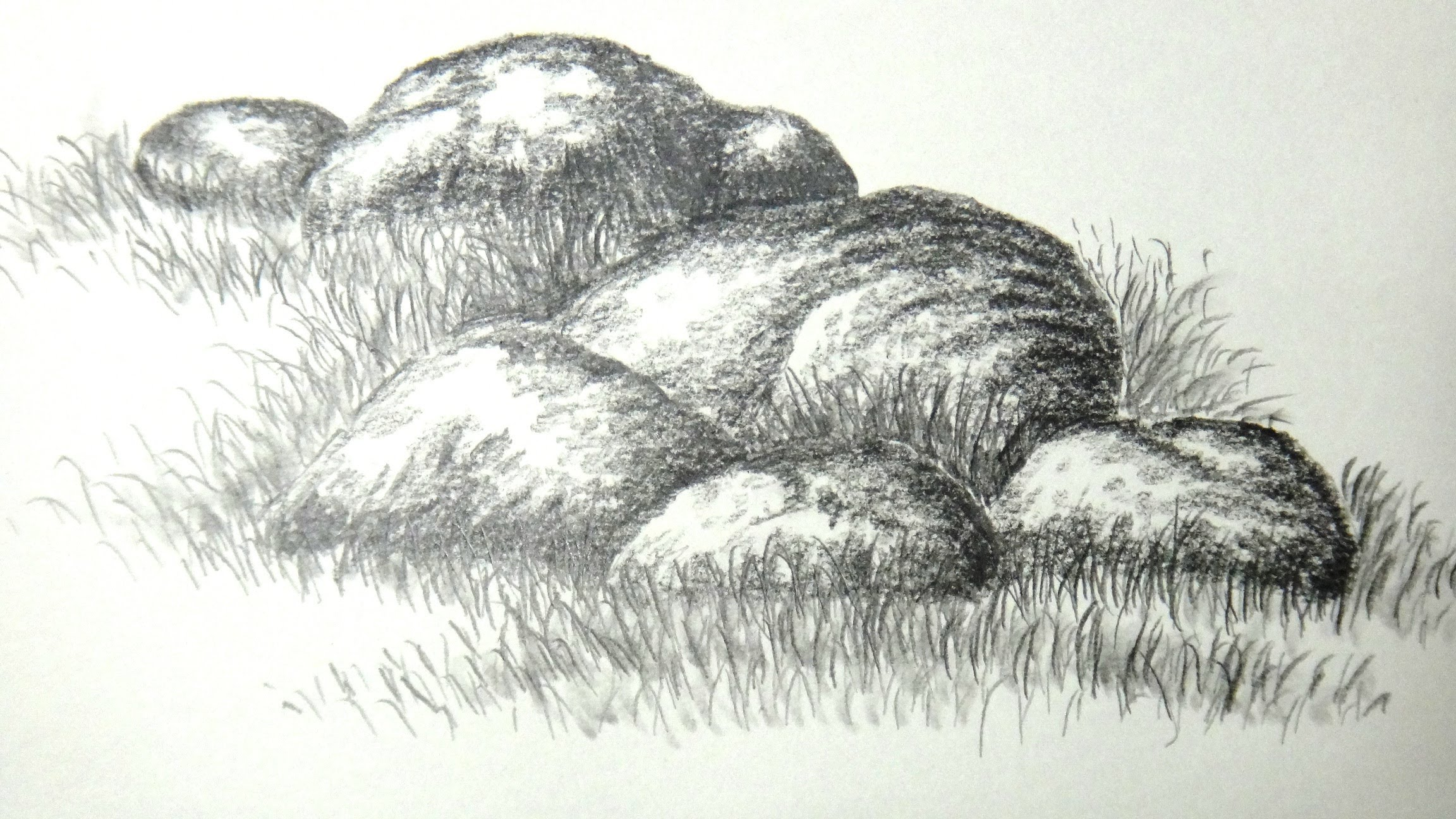Drawn stone  rocks or with pencil