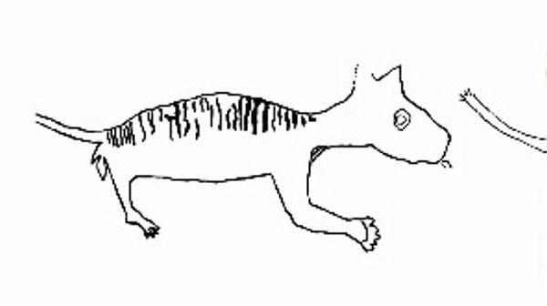 Drawn rock animal Antiquity Journal Figure 2