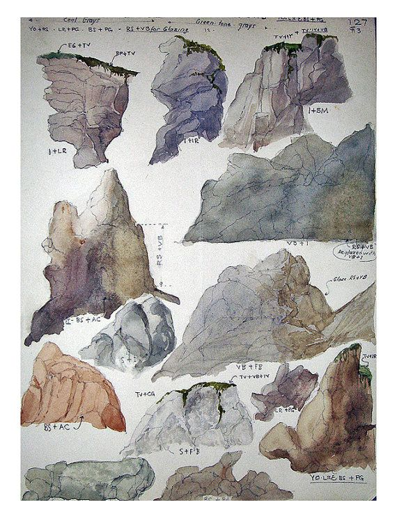 Drawn rock big rock 44 Vintage Rock Mounds Pinterest