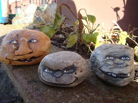 Drawn rock big rock Decoration 14 Pet your garden