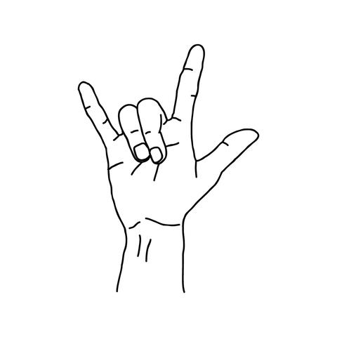 Drawn rock hand Co Hand Supply drawn Hands