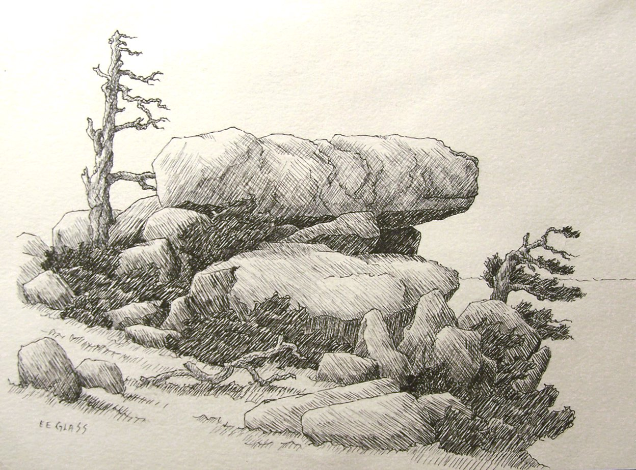 Drawn rock pencil drawing Crosshatching to crosshatching help of