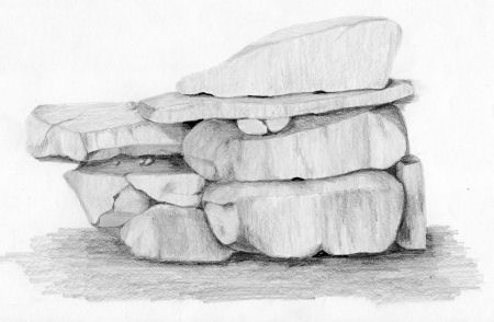 Drawn rock pencil drawing Course Lets Draw during Draw