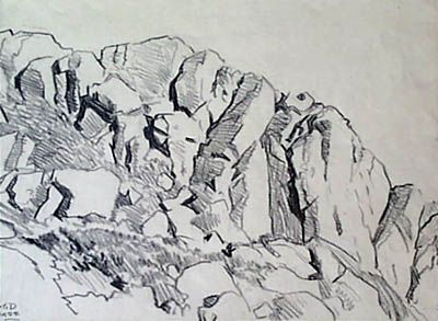 Drawn rock pencil drawing  best How rocks of