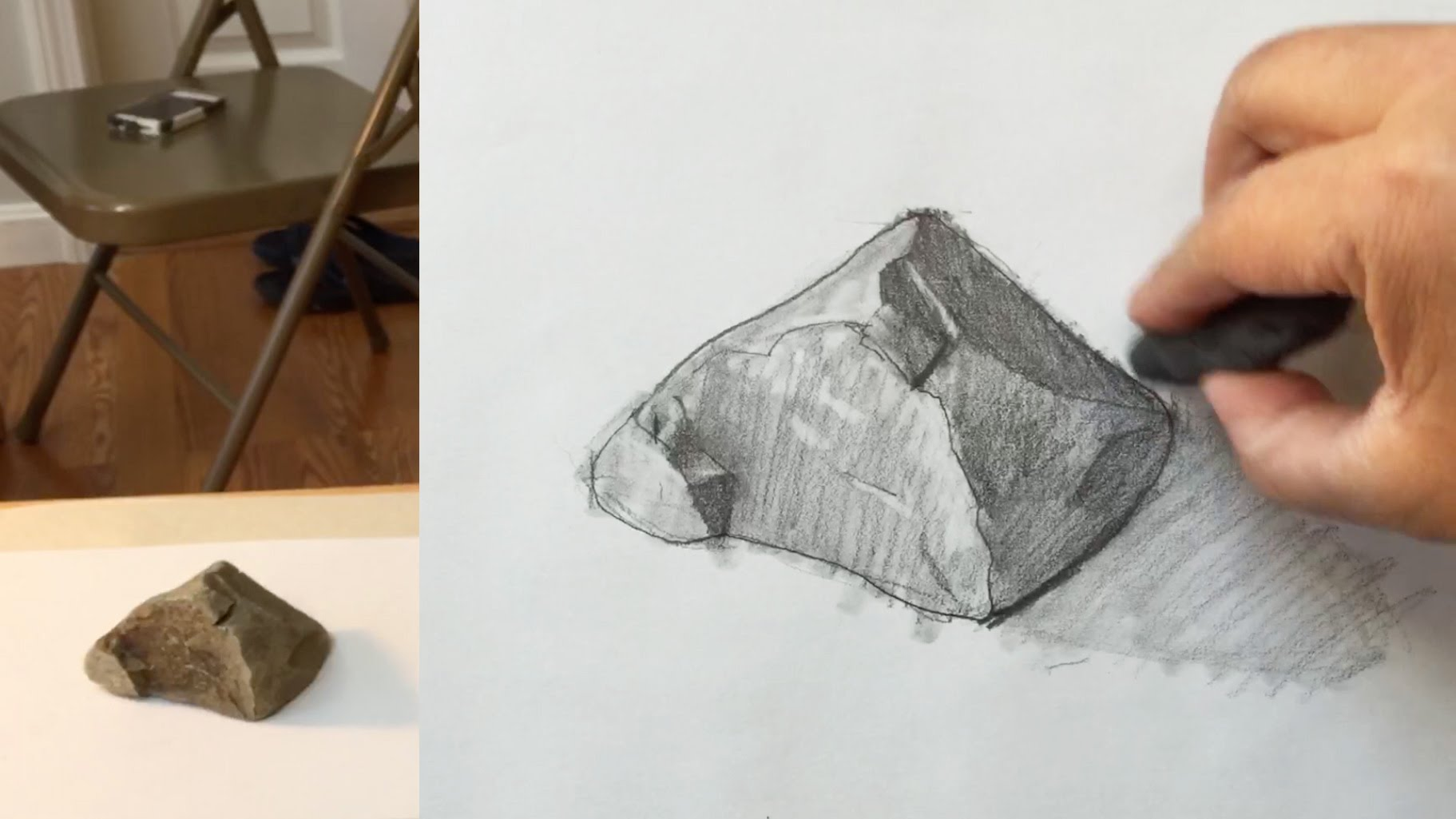 Drawn rock pencil drawing Rock with draw to