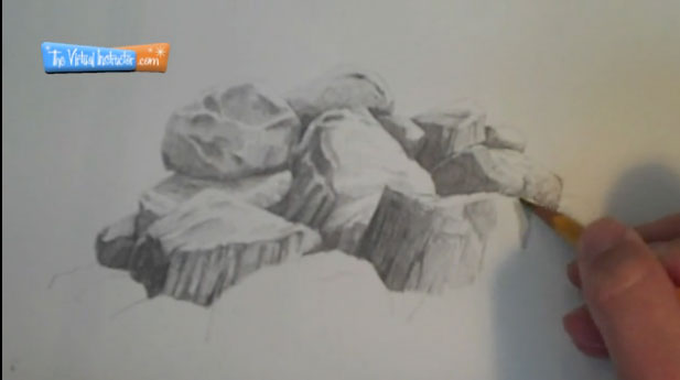 Drawn rock pencil drawing To 4 Make Rocks Draw